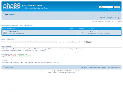 phpBB Screenshot