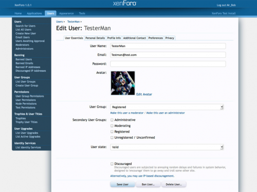 XenForo Screenshot